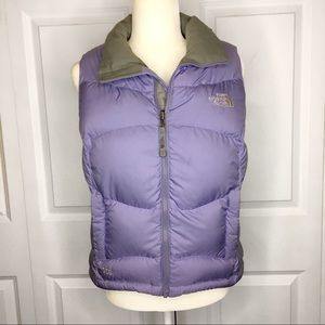 The North Face Purple Puffer Vest